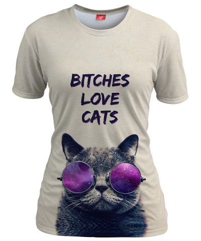 Koszulka damska BITCHES LOVE CATS