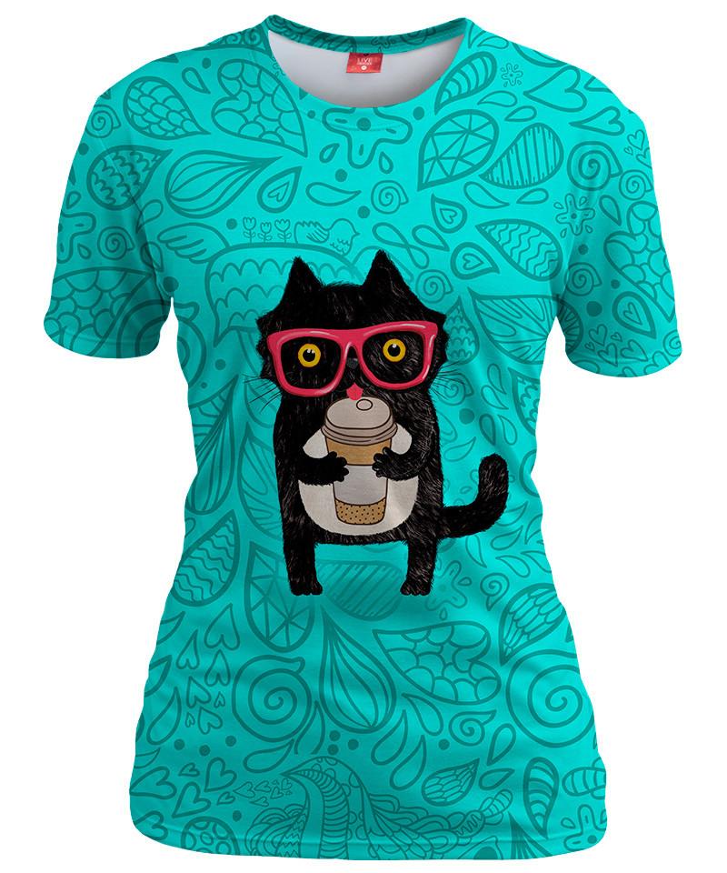 Koszulka damska COFFEE KITTY CAT