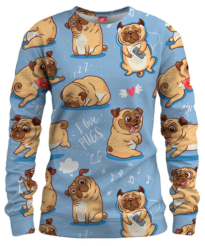 I LOVE PUGS Womens sweater