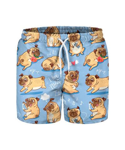 I LOVE PUGS Swim Shorts