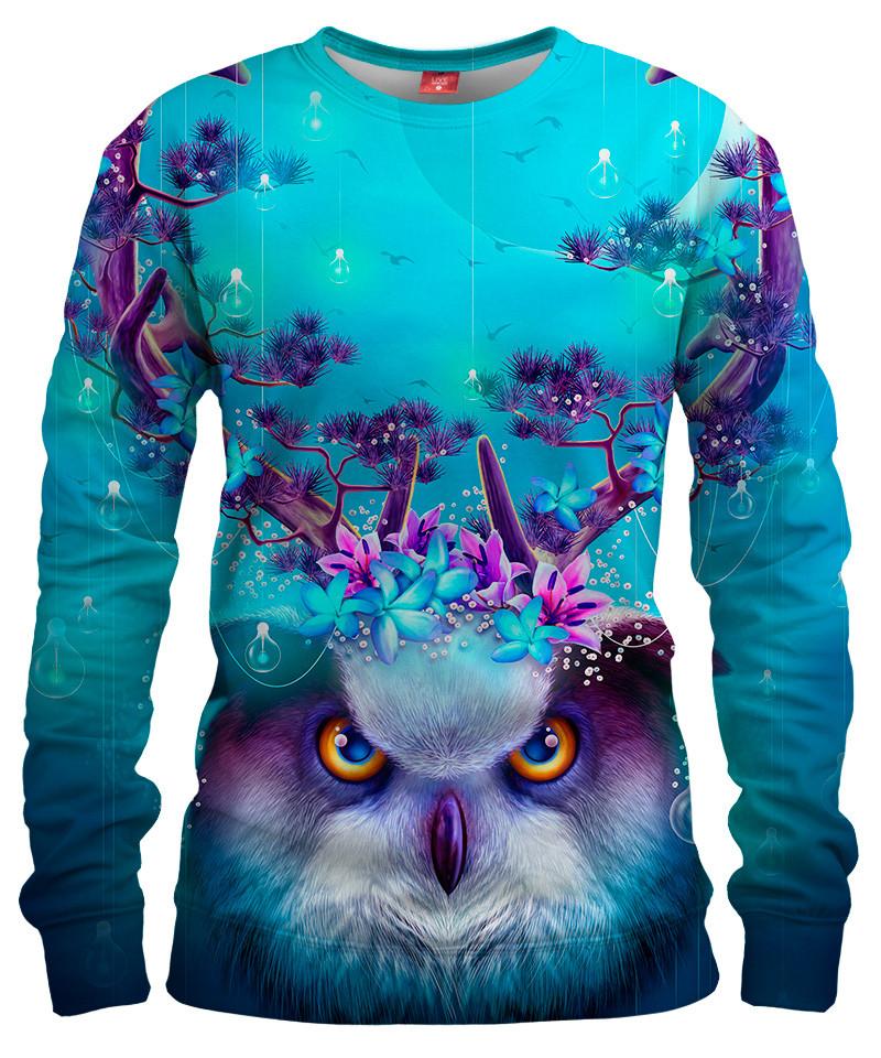 OWL HORNS UP Womens sweater