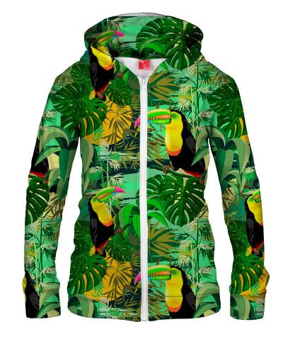 Damska bluza z zamkiem TOUCAN IN GREEN