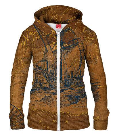 TRAVEL WITH ME Womens Hoodie Zip Up