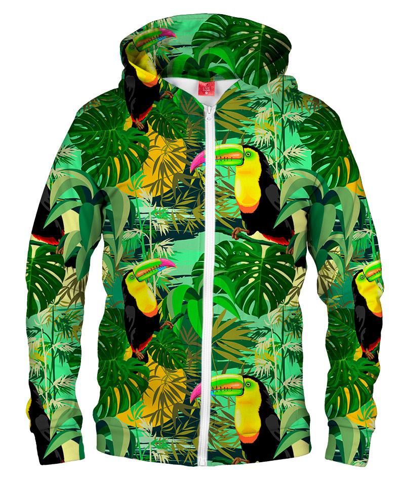 TOUCAN IN GREEN Hoodie Zip Up