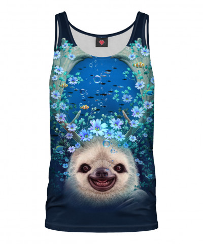 Tank Top SLOTH HORNS UP