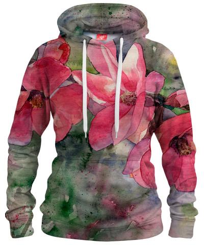 RED FLOWERS Womens hoodie