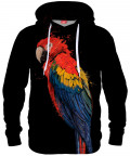 Bluza z kapturem PARROT ON BLACK
