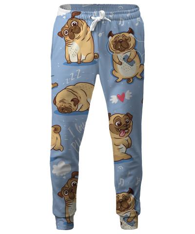 I LOVE PUGS Sweatpants