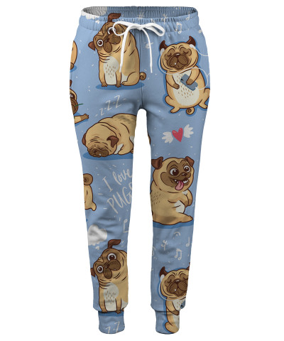 I LOVE PUGS Womens sweatpants
