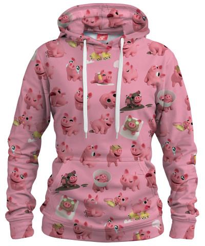 Damska bluza z kapturem ROSA THE PIG