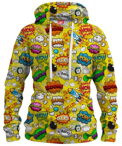 OMG COMICS YELLOW Womens hoodie