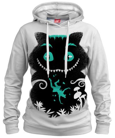 WONDERLAND CAT Womens hoodie