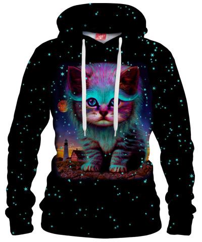 Damska bluza z kapturem CAT IN THE SKY