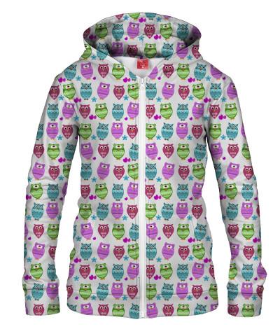 Damska bluza z zamkiem FUNKY OWLS