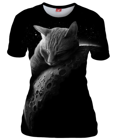 MOON CAT Womens T-shirt