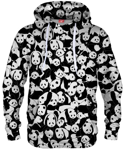 Bluza z kapturem LESS HATE MORE PANDA