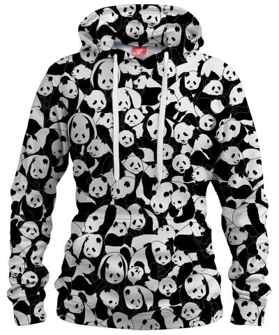 LESS HATE MORE PANDA Womens hoodie