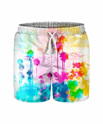 WATERCOLOR PALMS Swim Shorts