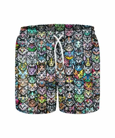 COLORFUL CATS Swim Shorts