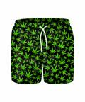 WEED PATTERN Swim Shorts