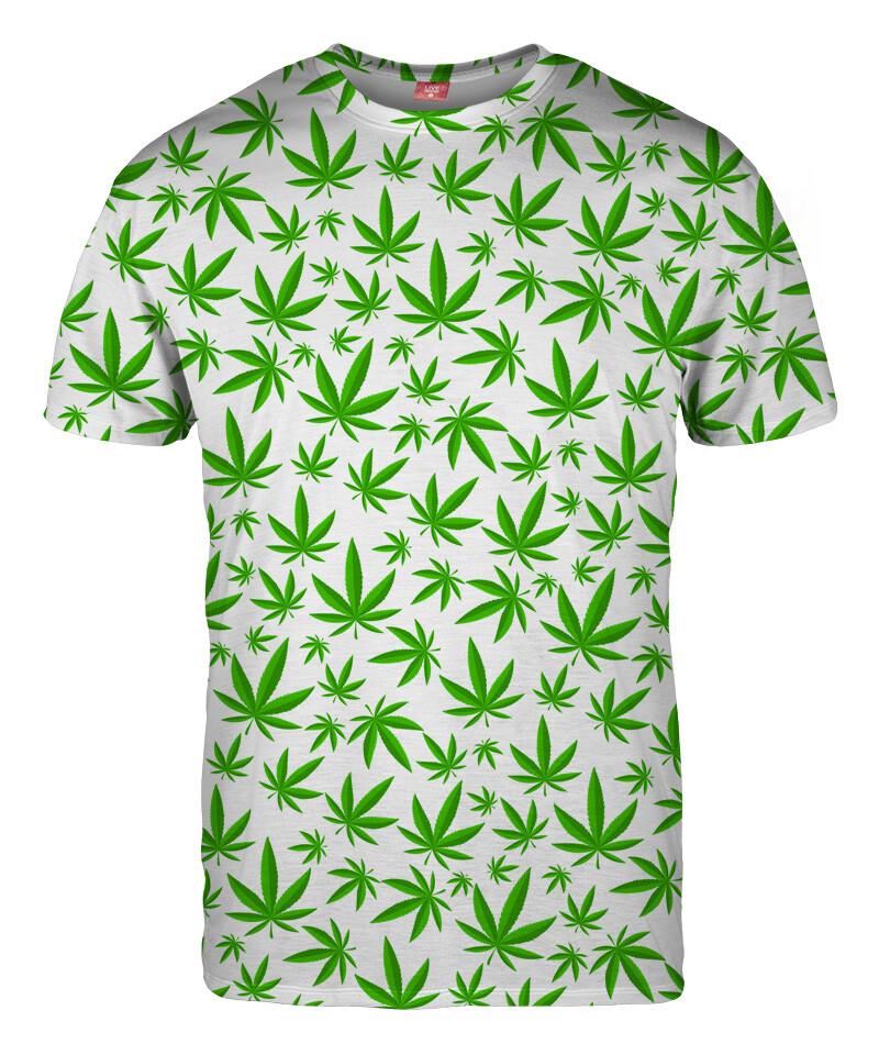 WEED PATTERN WHITE T-shirt