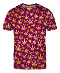 GOLD WEED PATTERN T-shirt