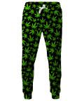 WEED PATTERN Sweatpants