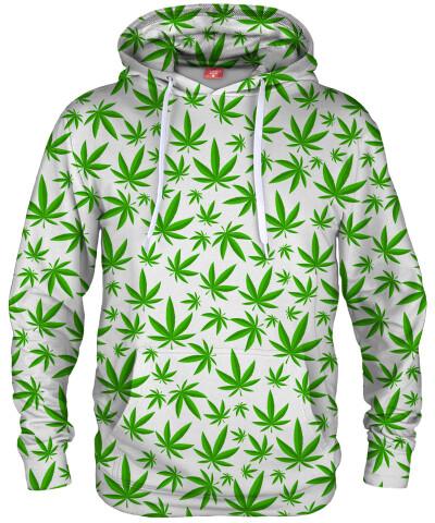 Bluza z kapturem WEED PATTERN WHITE