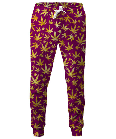 GOLD WEED PATTERN Sweatpants