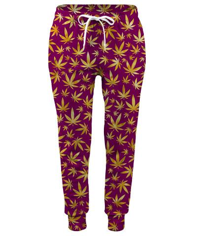Spodnie damskie GOLD WEED PATTERN
