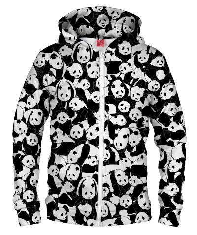 Bluza z zamkiem LESS HATE MORE PANDA