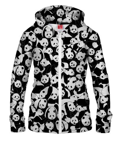 Damska bluza z zamkiem LESS HATE MORE PANDA