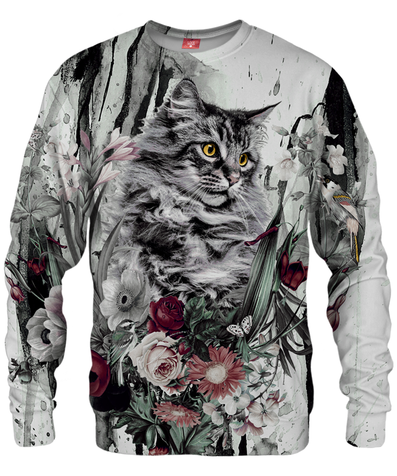 Bluza CAT IN FLOWERS