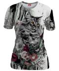 Koszulka damska CAT IN FLOWERS