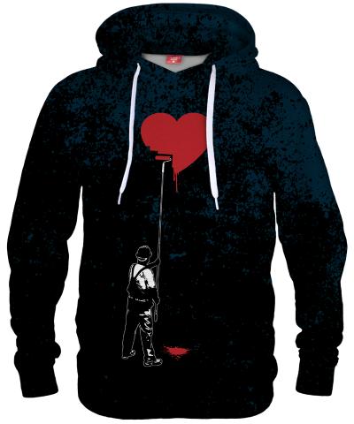 Bluza z kapturem HEART PAINTER