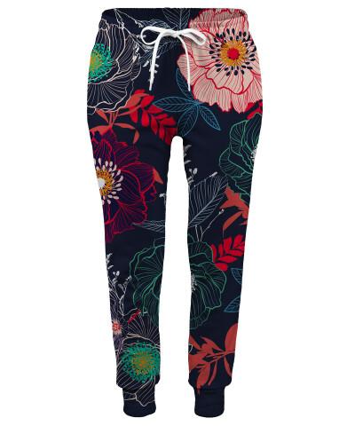 Spodnie damskie FLOWERS