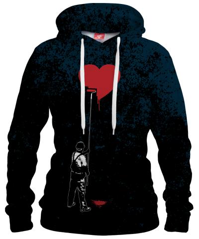 HEART PAINTER Womens hoodie