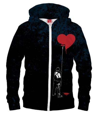 Bluza z zamkiem HEART PAINTER