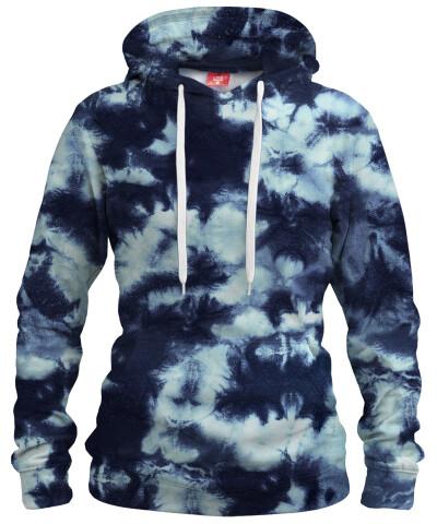 DARK BLUE TIE DYE Womens hoodie