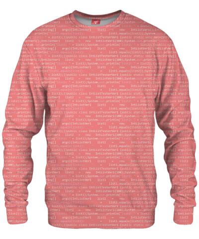 GEEK CODE PINK Sweater