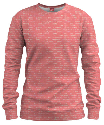 GEEK CODE PINK Womens sweater