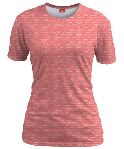 GEEK CODE PINK Womens T-shirt