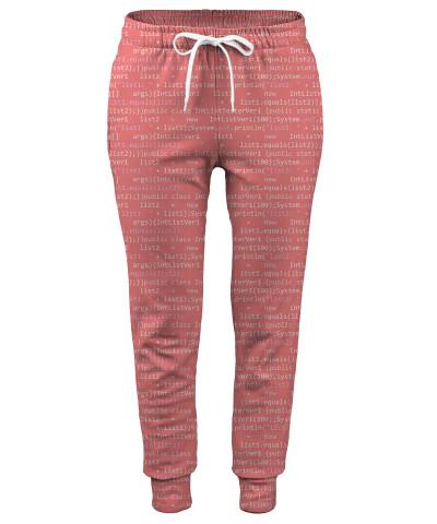 GEEK CODE PINK Womens sweatpants