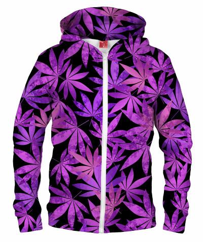 PURPLE WEED Hoodie Zip Up