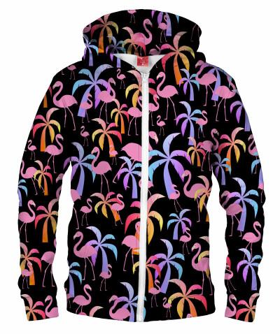 Bluza z zamkiem PALMS AND FLAMINGOS