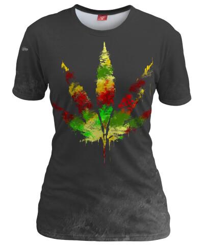 Koszulka damska RASTA WEED