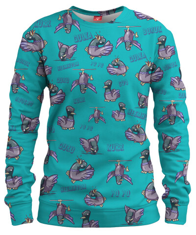 PIGEON PATTERN Womens sweater