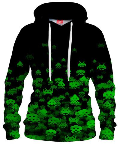 GREEN INVASION Womens hoodie