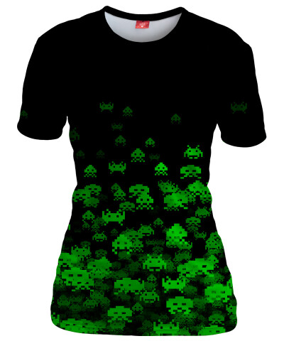 GREEN INVASION Womens T-shirt