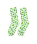WEED PATTERN WHITE Socks